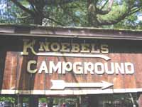 Knoebels Camp Ground Sign